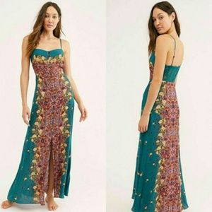 NWT Free People Morning Song Printed Maxi Dress